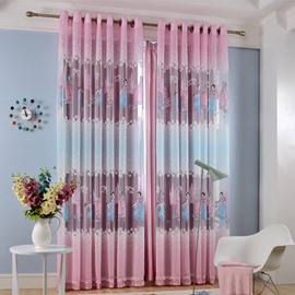 Princess Style Polyester Material Decorative Style Jacquard Technics Curtain Sets
