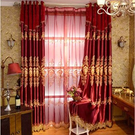 High Quality Red Classical Lucky Pattern Polyester Curtain