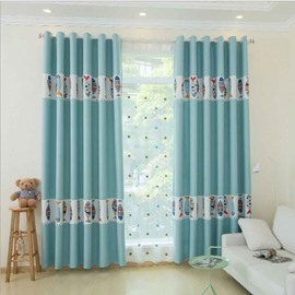 Cartoon Style Fish Pattern Size Customization Curtain