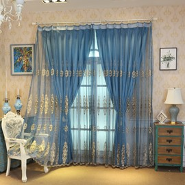 Haute Custom Curtain Sets with Thick Polyester Cotton and Organza 100% Shading Rate Free Decorative Tassels Curtain Tie Backs