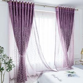 Modern Blackout Custom Purple Curtain Sets for Living Room Bedroom 84W 84L 2 Panel Set