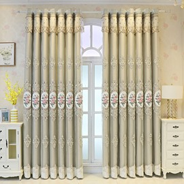 European Luxurious Embroidered Curtain Sets Sheer and Lining Thickened Blackout Curtains for Living Room Bedroom Decoration No Pilling No Fading No off-lining
