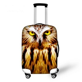Super Cool Owl Pattern 3D Painted Luggage Cover