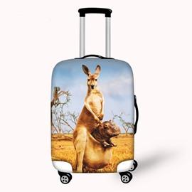 Vivid Kangaroo Pattern 3D Painted Luggage Cover