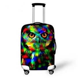 Colorful Owl Pattern 3D Painted Luggage Cover
