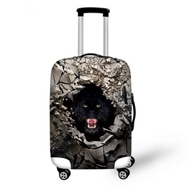 Cool Wolve Pattern 3D Painted Luggage Cover