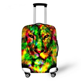 Special Lion Pattern 3D Painted Luggage Cover