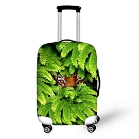 Creative Animals Hide in Leaves Pattern 3D Painted Luggage Protector Cover