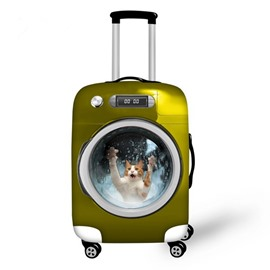 Unique Wash Machine with Cute Animals Pattern 3D Painted Luggage Cover
