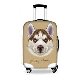 Happy Puppy Pattern 3D Painted Luggage Protect Cover