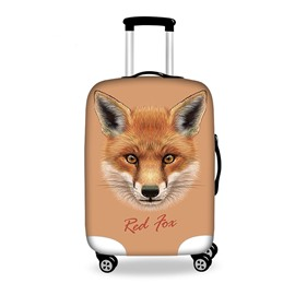 Red Fox Face Pattern 3D Painted Luggage Protect Cover