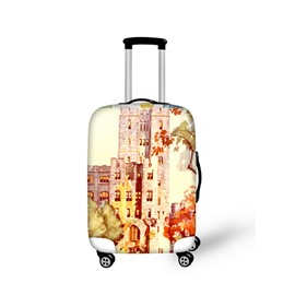 Dreamy Castle Pattern 3D Painted Luggage Protect Cover