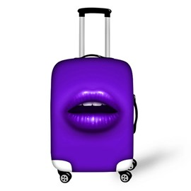 Fashion Lip Pattern Multicolor Option 3D Painted Luggage Protect Cover