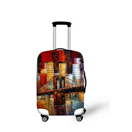 Oil Style Bridge Pattern 3D Painted Luggage Protect Cover