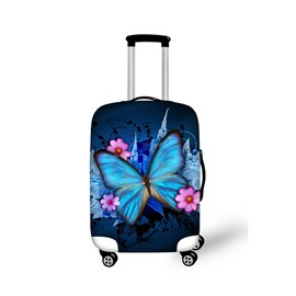 Charming Royal Butterfly Pattern 3D Painted Luggage Protect Cover