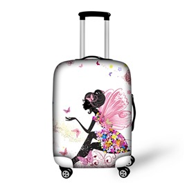 Butterfly Girl Waterproof Spandex 3D Painted Luggage Protect Cover