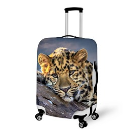 Fashion Leopard Pattern 3D Painted Luggage Cover