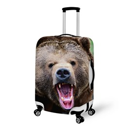 Special Angry Bear Pattern 3D Painted Luggage Cover