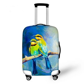 Wonderful Oil Painting Style Parrots Pattern 3D Painted Luggage Cover