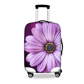 Charming Purple Flower Pattern 3D Painted Luggage Cover