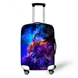 Blue Cloud Galaxy Pattern 3D Painted Luggage Cover
