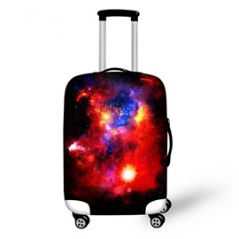 Charming Burgundy Galaxy Pattern 3D Painted Luggage Cover