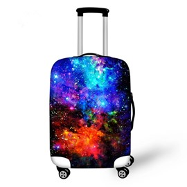 Colorful Galaxy Pattern 3D Painted Luggage Cover