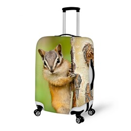 Creative Squirrel Pattern 3D Painted Luggage Cover