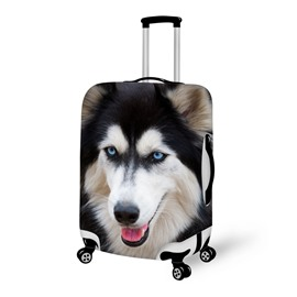 Charming Dog Face Pattern 3D Painted Luggage Cover