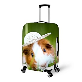 Guinea Pig with Hat Pattern 3D Painted Luggage Cover