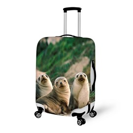 Super Shining Seal Pattern 3D Painted Luggage Cover