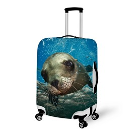 Swimming Seal Pattern 3D Painted Luggage Cover
