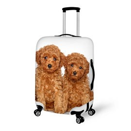 Adorable Couple Doggy Pattern 3D Painted Luggage Cover
