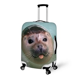 Cuddly Seal Pattern 3D Painted Luggage Cover