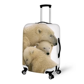 Harmony Polar Bear Family Pattern 3D Painted Luggage Cover