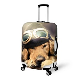 Attractive Pilot Dog Pattern 3D Painted Luggage Cover