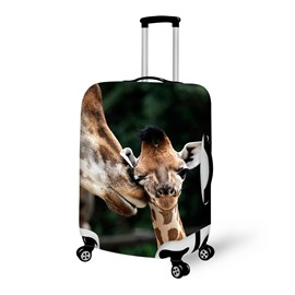 Likable Baby Giraffe Pattern 3D Painted Luggage Cover
