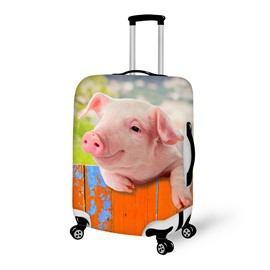 Adorable Piglet on Fence Pattern 3D Painted Luggage Cover