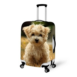 Lovely Smiling Face Dog Pattern 3D Painted Luggage Cover