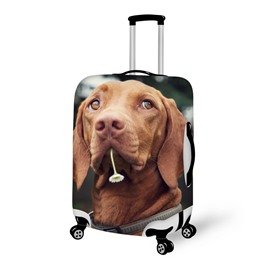 Fantastic Dog With Flower Pattern 3D Painted Luggage Cover
