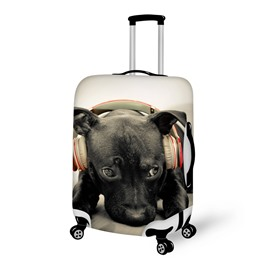 Cute Headset Doggy Pattern 3D Painted Luggage Cover