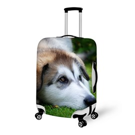 Innocent Eyes Dog Pattern 3D Painted Luggage Cover