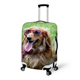 Super Cool Fashion Dog Pattern 3D Painted Luggage Cover