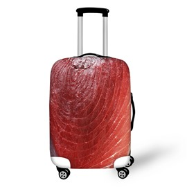 Meat Fresh Fabric Stretch 18-30 Inch 3D Printed Suitcase Blue Luggage Protector Covers