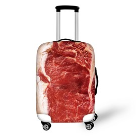Fresh Meat Fabric Stretch 18-30 Inch 3D Printed Travel Suitcase Luggage Covers