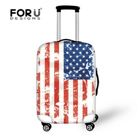 Spandex Washable18-30 Inch Personalized Flag Travel 3D Printed Luggage Protector Covers