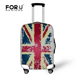 Retro Old Generation Sense UK Flag18-30 Inch 3D Printed Suitcase Luggage Protector Covers