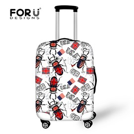 Fit 18-30 Inch Personalized Flag Spandex Beetle 3D Printed Luggage Protector Covers