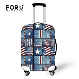 Different Flag Pattern Stars 18-30 Inch 3D Printed Suitcase Blue Luggage Protector Covers