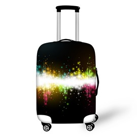 Colorful Music Rhythm Waterproof Spandex Travel Suitcase 3D Printed Luggage Cover